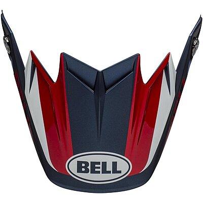 Visière Bell Moto 9 Flex Division white blue red