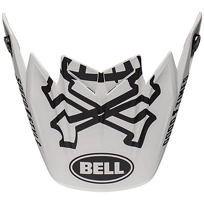 Visière Bell Moto 9 Flex Fasthouse WRWF matte gloss white red