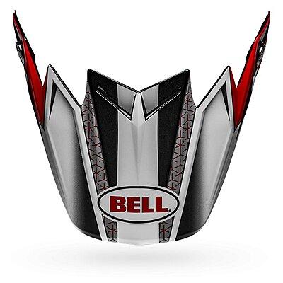 Visière Bell Moto 9 Flex Visor Hound gloss matte red white black