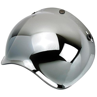 Visière Biltwell bubble shield anti-fog chrome mirror