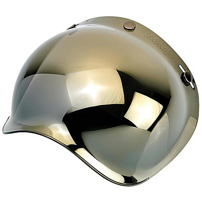Visière Biltwell bubble shield anti-fog gold mirror