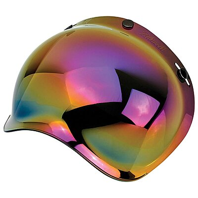 Visière Biltwell bubble shield anti-fog rainbow mirror