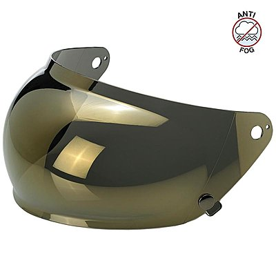 Visière Biltwell Gringo S Anti-fog Bubble Shield Gold Mirror