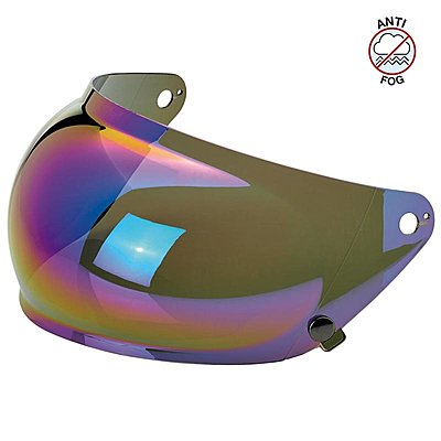 Visière Biltwell Gringo S Anti-fog Bubble Shield Rainbow Mirror