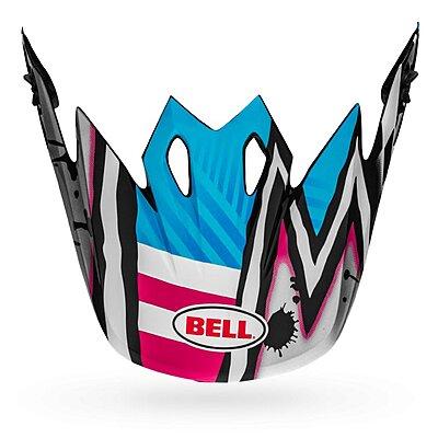 Visière Bell MX 9 Visor tagger asymmetric gloss blue pink