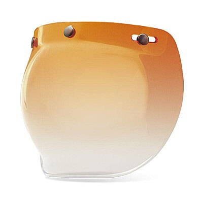 Visière Bell PS3-Snap bubble shield amber gradient Custom 500