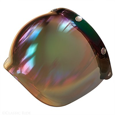 Visière flip up V Parts Bubble chrome rainbow iridium