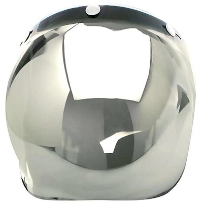 Visière flip up V Parts bubble chrome argent