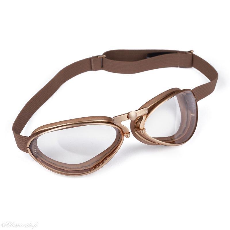 Aviator Goggle-4600-Dore-Pneu-Lunettes-Moto-Aviateur-vintage d2340c6ab5bb