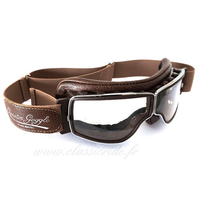 570f3b05b21 Lunettes Aviator Goggle T2 Chrome Marron Vieilli