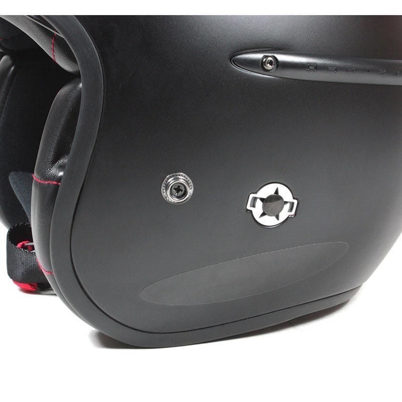 Bandes Réfléchissantes Noires Chaft Casque Moto Autocollants
