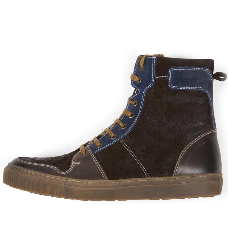 f92c92623e3 baskets helstons c2 cuir split marron chaussures moto vintage homme