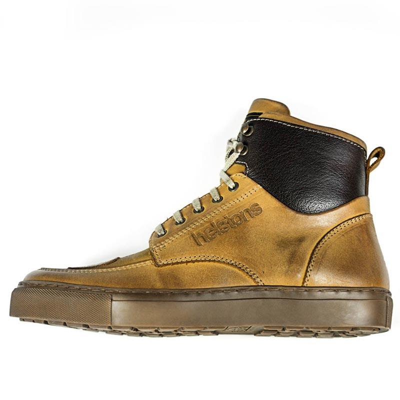 Baskets Helstons Utah cuir peach, chaussures moto vintage CE