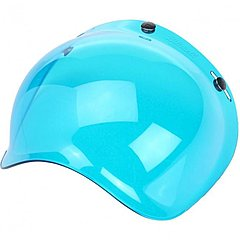 Visière Biltwell bubble shield anti-fog blue