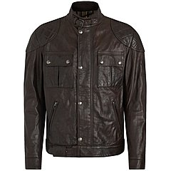 Blouson Belstaff Brooklands cuir black brown