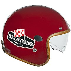 Casque Helstons Flag Helmet Carbone bordeaux