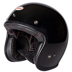 Casque Bell Custom 500 Solid Gloss Black
