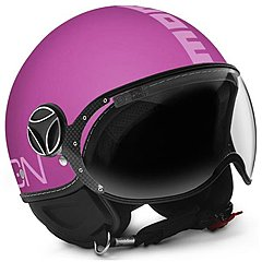 Casque Momo Design FGTR Classic Violet Logo Pink