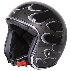 Casque Stormer Pearl fire black metal glossy