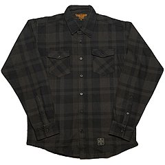 Chemise West Coast Choppers La Bomba Herringbone Flannel grey black