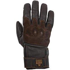 Gants Helstons Glory hiver chauffants cuir marron