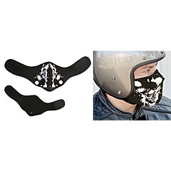 Masque moto Mad Skull White