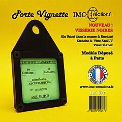 Porte assurance moto IMC noir carré