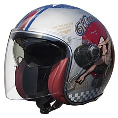 Casque Premier Vangarde pin up old style silver