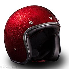 Casque Stormer Pearl Paillette - Rouge