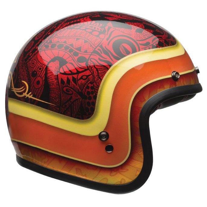 casque bell custom 500 hart luck black red jet biker moto. Black Bedroom Furniture Sets. Home Design Ideas