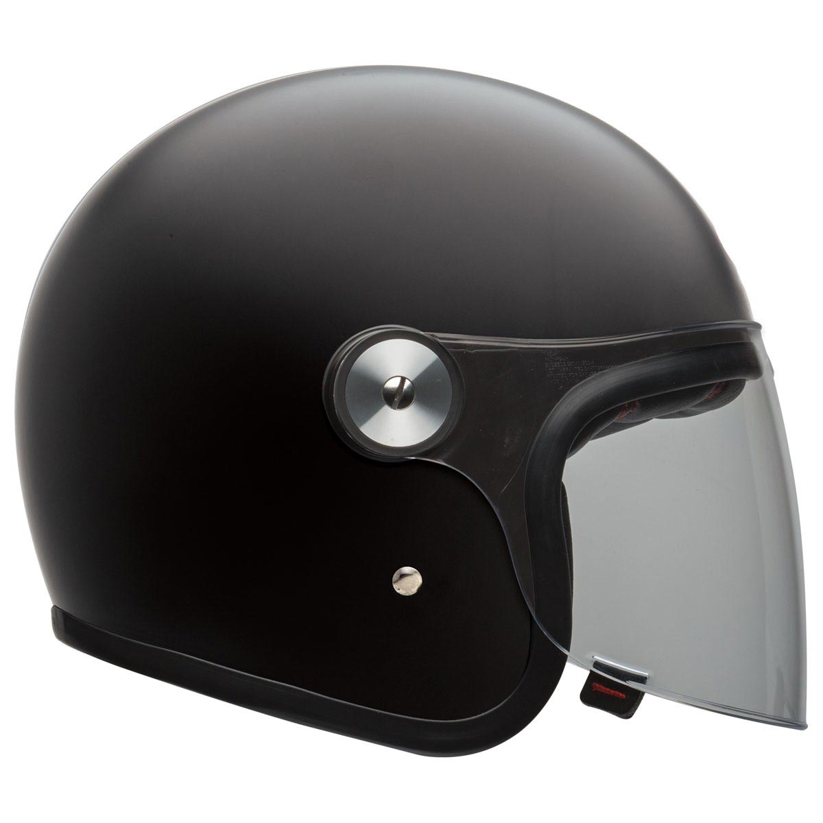 bell riot matte black casque moto vintage jet biker avec cran. Black Bedroom Furniture Sets. Home Design Ideas