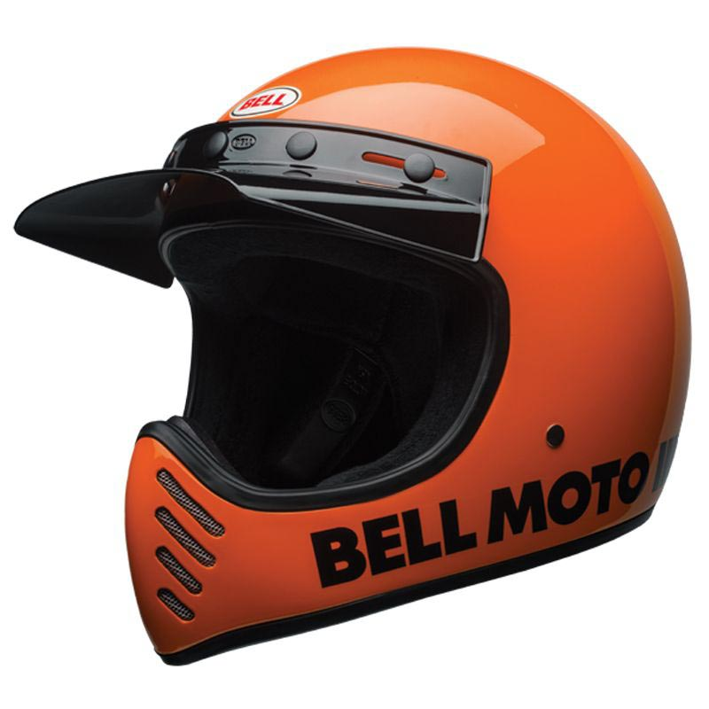 bell moto 3 classic fluo orange casque int gral vintage. Black Bedroom Furniture Sets. Home Design Ideas