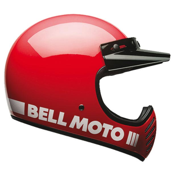 bell moto 3 classic red casque int gral vintage r tro. Black Bedroom Furniture Sets. Home Design Ideas