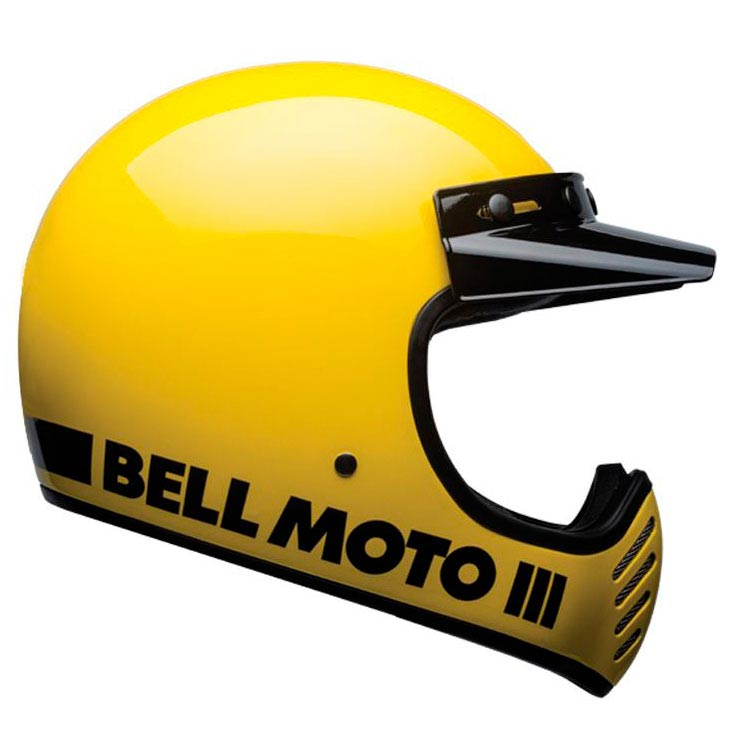 Bell Moto 3 Classic Yellow Casque Cross Vintage Intégral