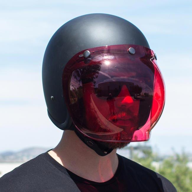 visi re biltwell bubble shield anti fog red cran casque moto jet. Black Bedroom Furniture Sets. Home Design Ideas