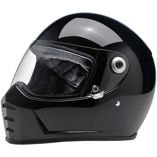 casque biltwell lane splitter gloss black int gral moto custom. Black Bedroom Furniture Sets. Home Design Ideas