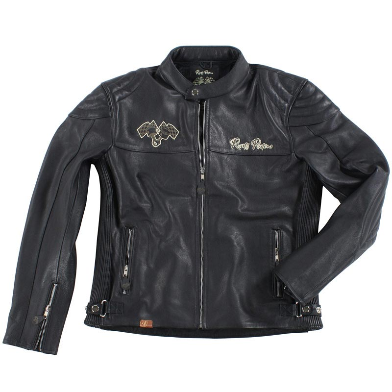 blouson biker rusty pistons logan veste moto cuir vintage. Black Bedroom Furniture Sets. Home Design Ideas