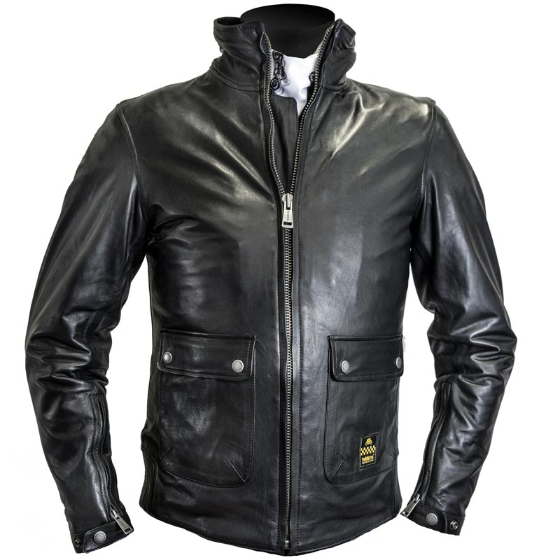 2a53090d74f12 blouson helstons alpha cuir soft noir col montant moto vintage homme