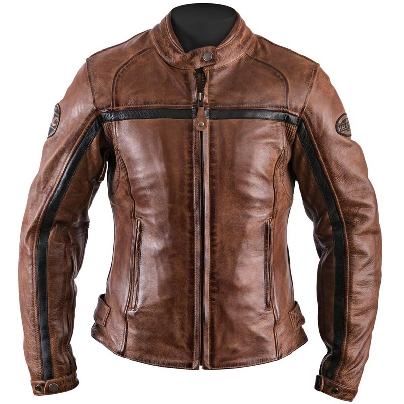 Blouson moto cuir perfore femme