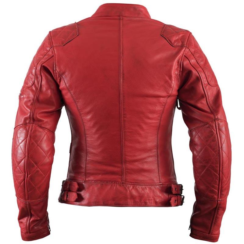 blouson moto femme helstons ks 70 cuir rag rouge vintage ks70. Black Bedroom Furniture Sets. Home Design Ideas
