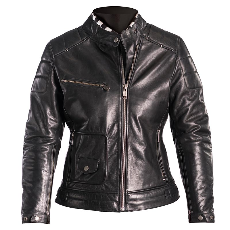 blouson helstons laureen cuir noir blouson moto femme. Black Bedroom Furniture Sets. Home Design Ideas
