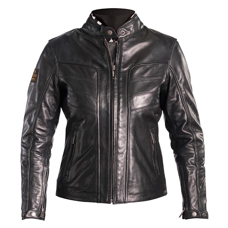 blouson helstons sarah cuir noir blouson moto femme. Black Bedroom Furniture Sets. Home Design Ideas
