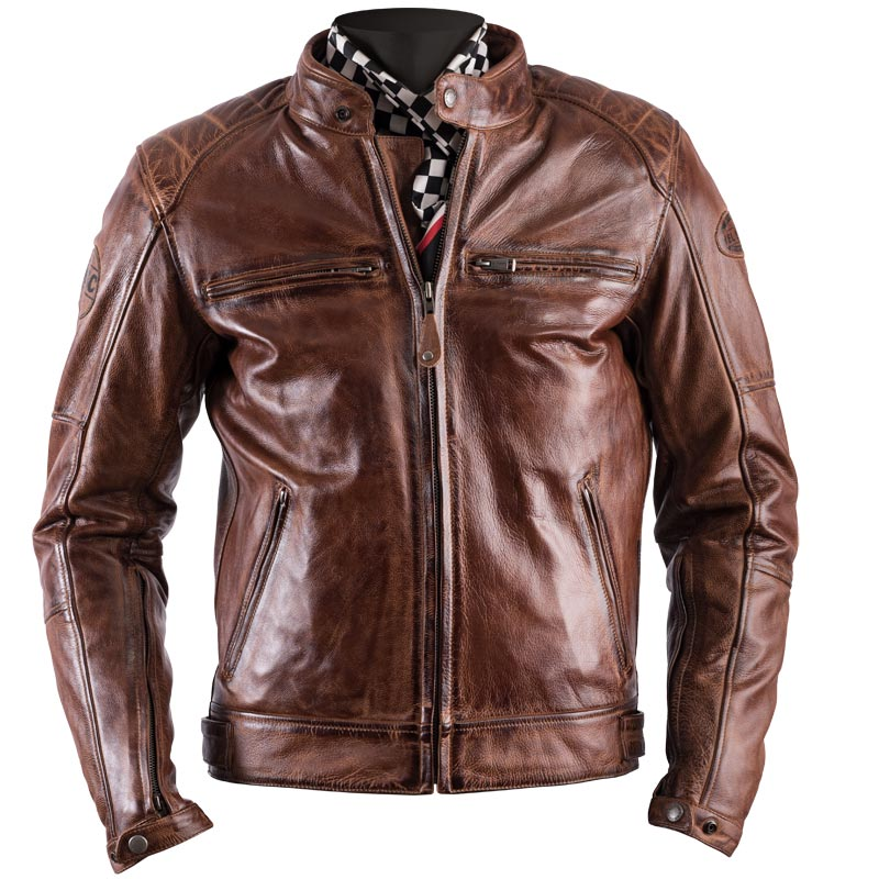blouson moto helstons track cuir rag crust camel vintage. Black Bedroom Furniture Sets. Home Design Ideas