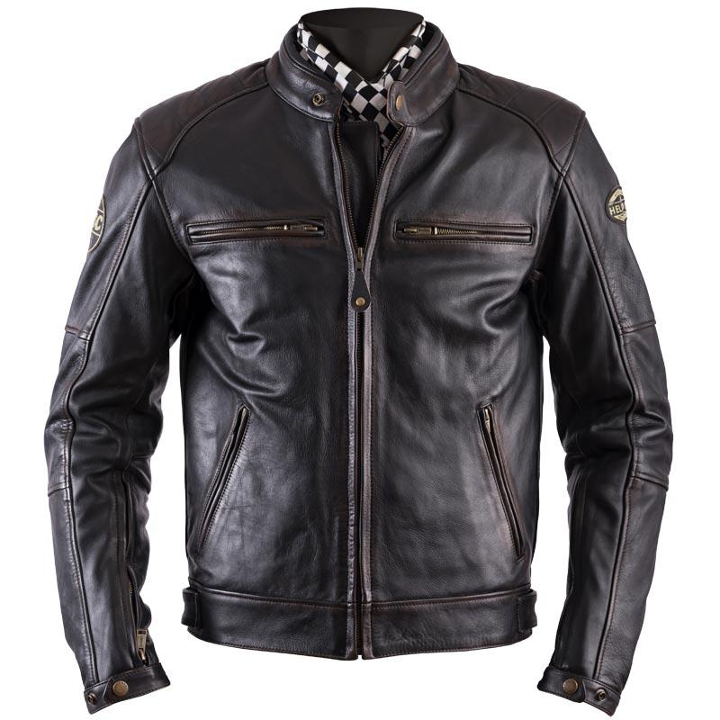 blouson helstons track cuir oldies marron blouson moto vintage. Black Bedroom Furniture Sets. Home Design Ideas