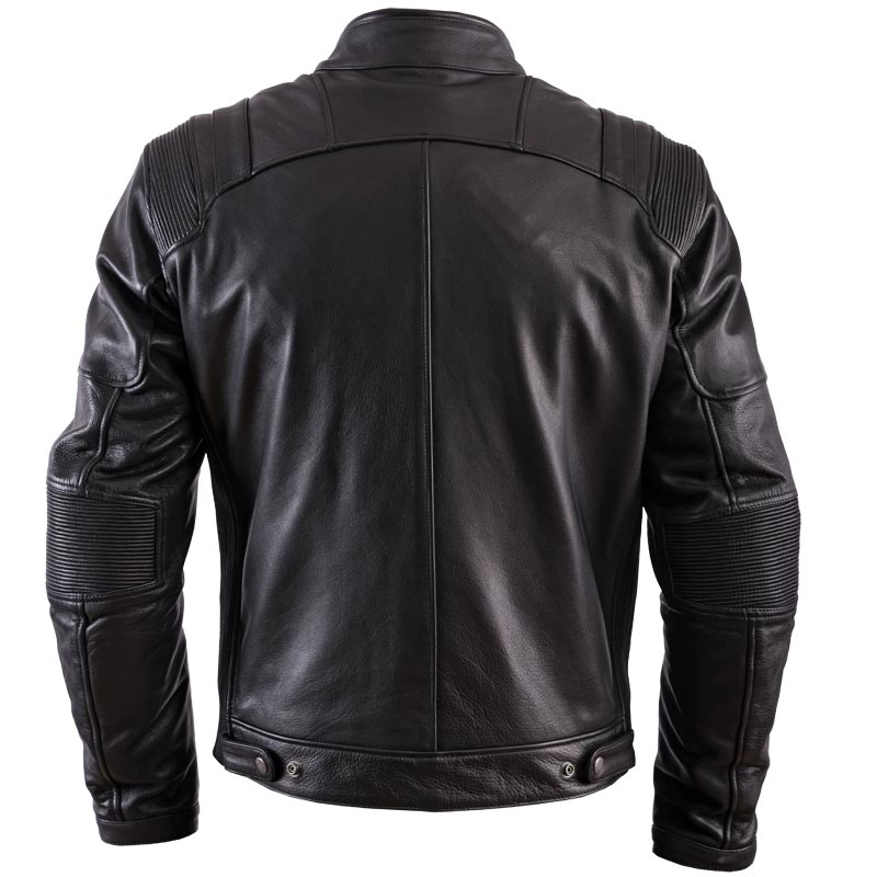 blouson helstons trust cuir plain noir blouson moto harley custom. Black Bedroom Furniture Sets. Home Design Ideas