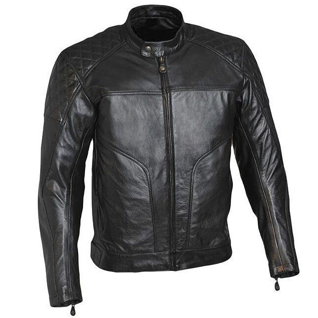 blouson moto guns bristol noir cuir vintage biker homme. Black Bedroom Furniture Sets. Home Design Ideas