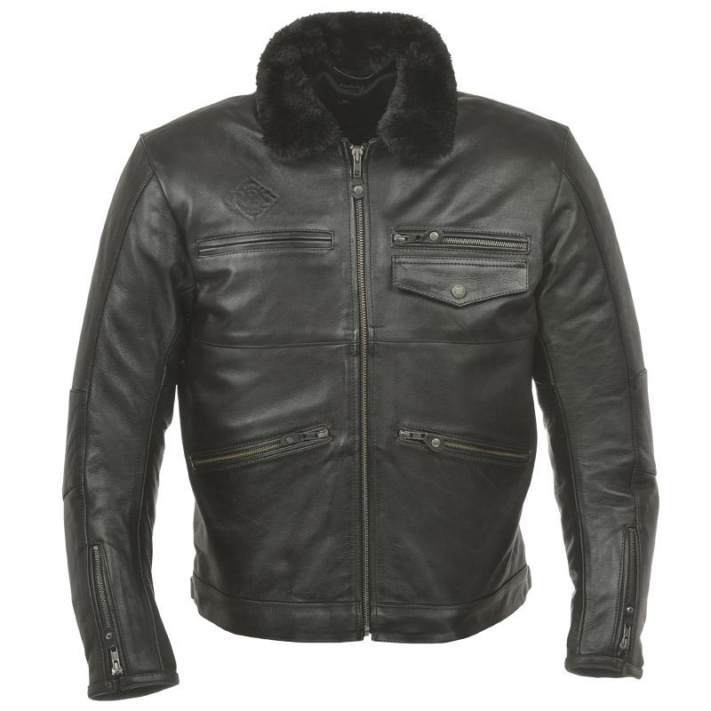 fca0b3f830d blouson moto cuir vintage ride and sons overland black homme
