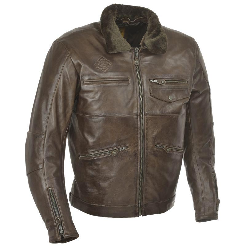 ride and sons overland brown blouson moto cuir vintage. Black Bedroom Furniture Sets. Home Design Ideas
