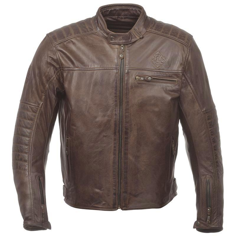 ride and sons getaway tobacco blouson moto cuir vintage. Black Bedroom Furniture Sets. Home Design Ideas