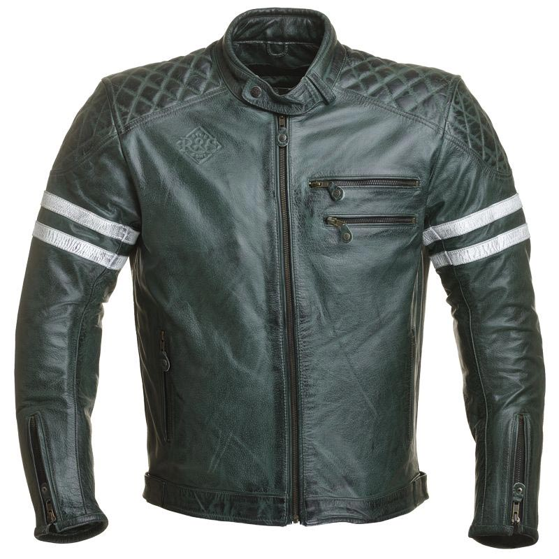 ride and sons magnificent forest green blouson moto vintage cuir homme. Black Bedroom Furniture Sets. Home Design Ideas